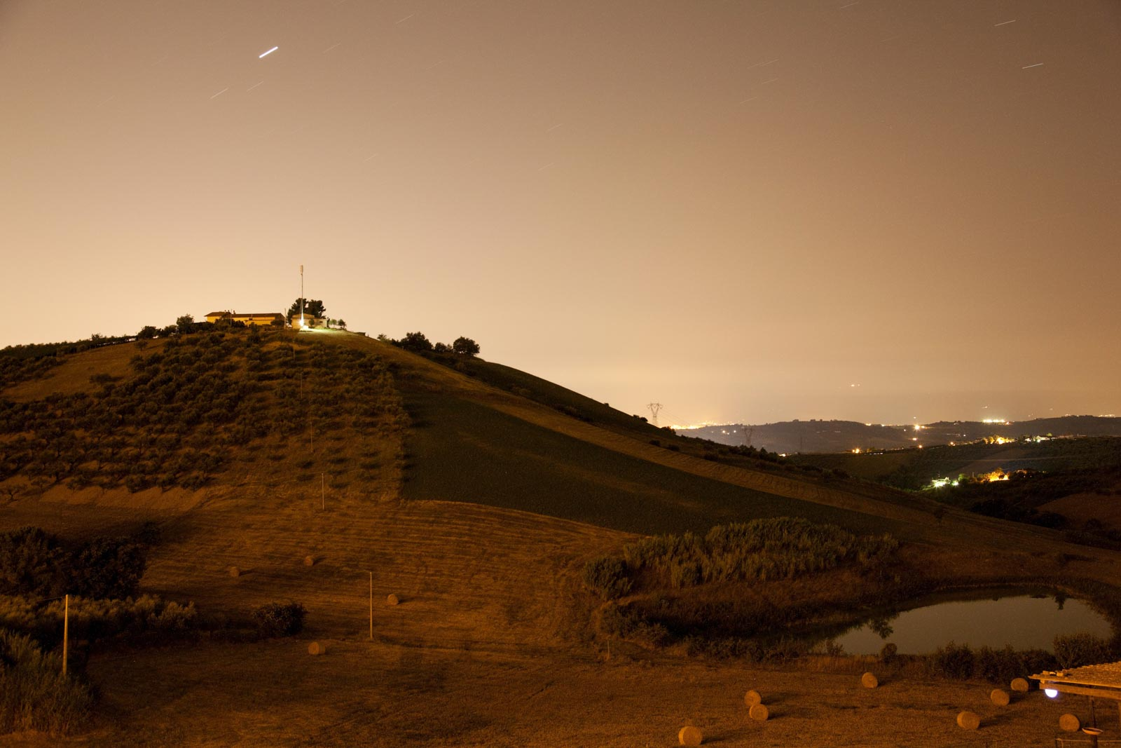 Nachtlandschap in Italie
