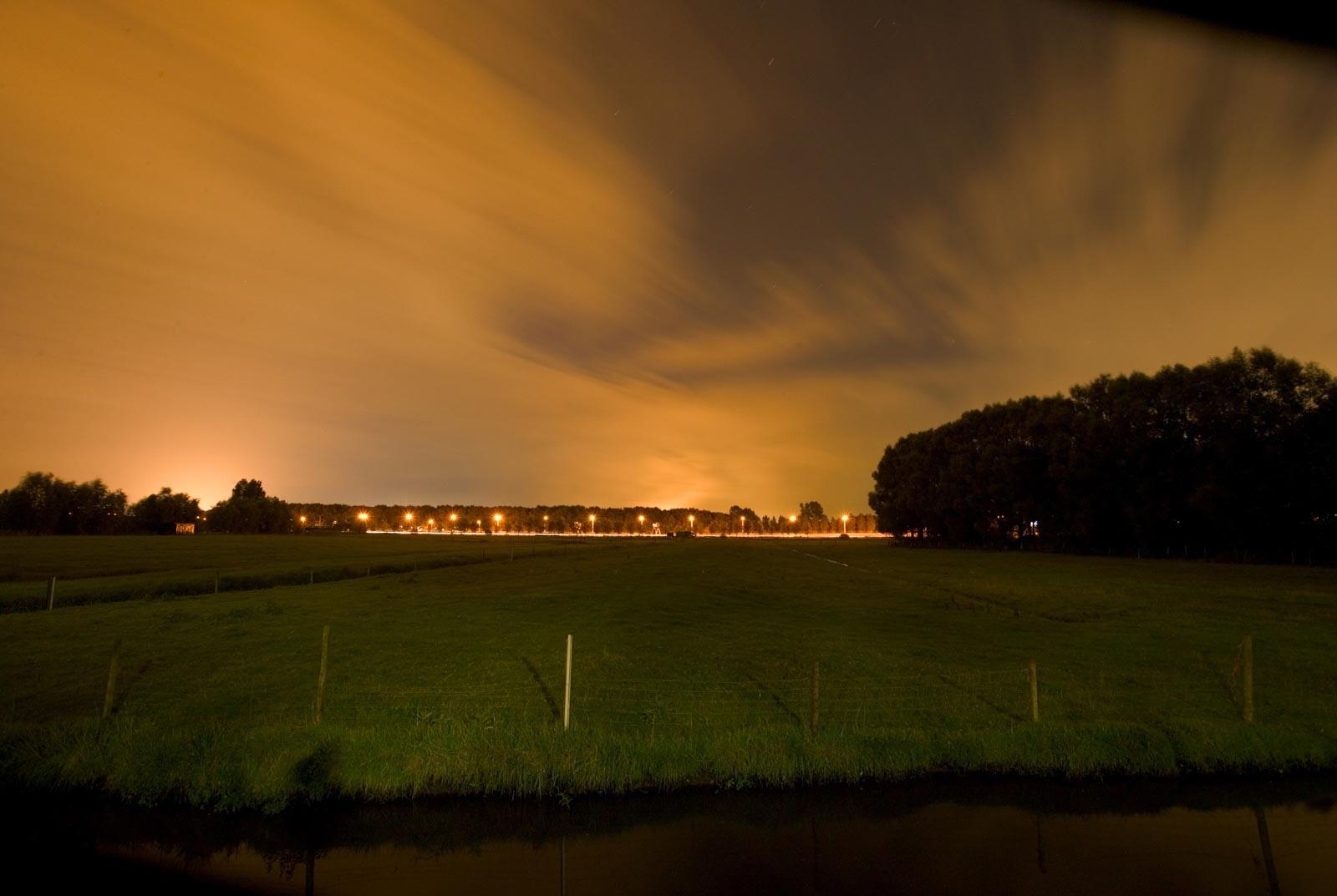 Nachtfoto in Delft